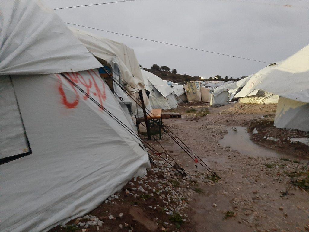Flüchtlingszelt Lesbos